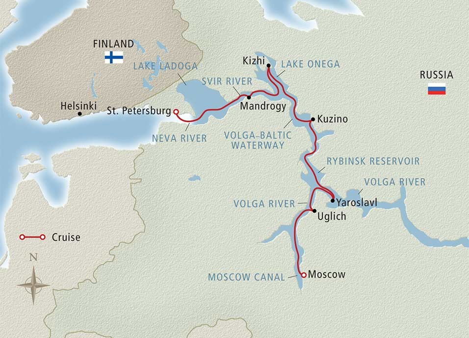 Russia 2016 Waterways of the Tsars with
